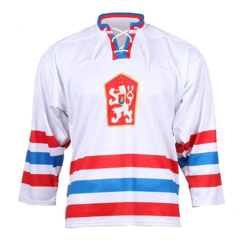 Bílý unisex hokejový dres Replika ČSSR 1976, Merco