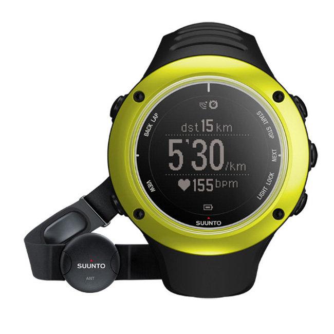 Černo-zelené digitální sportovní hodinky Ambit2 S (HR), Suunto