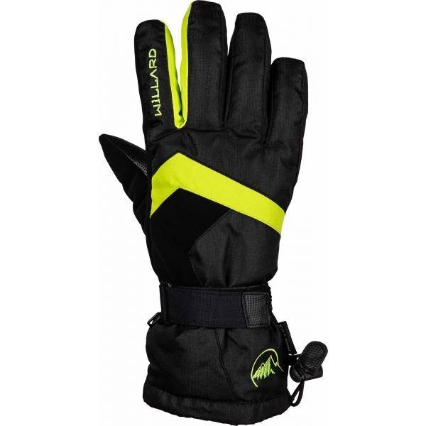 Černé pánské lyžařské rukavice Willard - velikost L