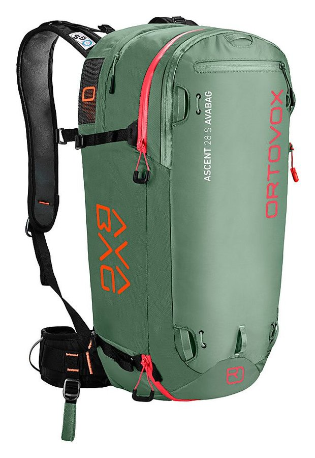 Zelený lavinový skialpový batoh Ortovox - objem 28 l