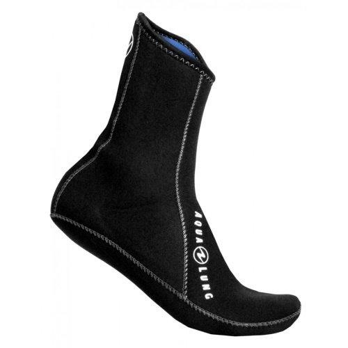 Černé pánské nebo dámské neoprenové ponožky Ergo, Aqualung - tloušťka 3 mm