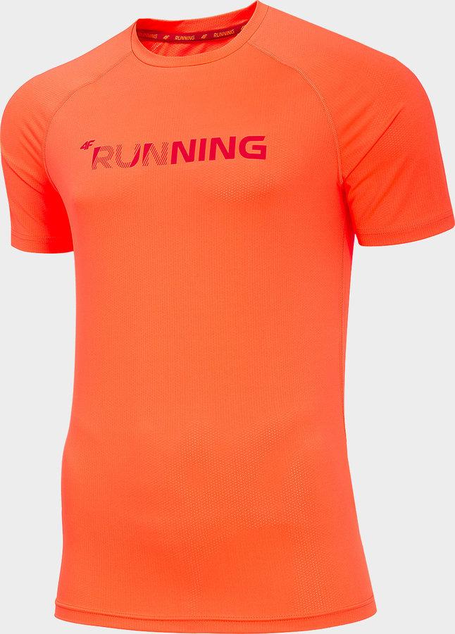 Oranžové pánské funkční tričko s krátkým rukávem 4F