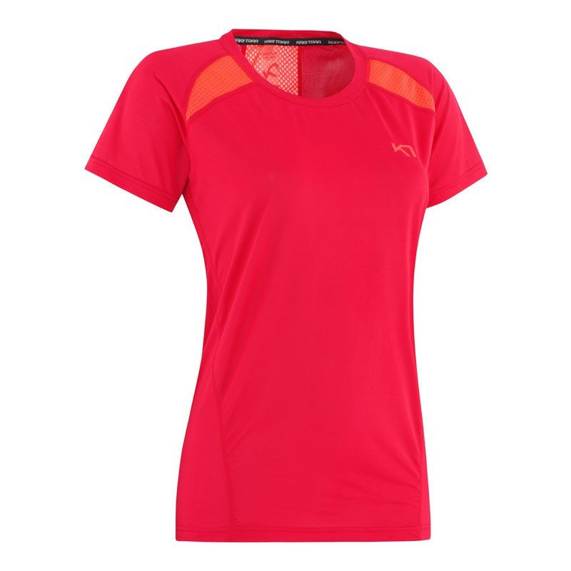 Červené dámské funkční tričko s krátkým rukávem Kari Traa