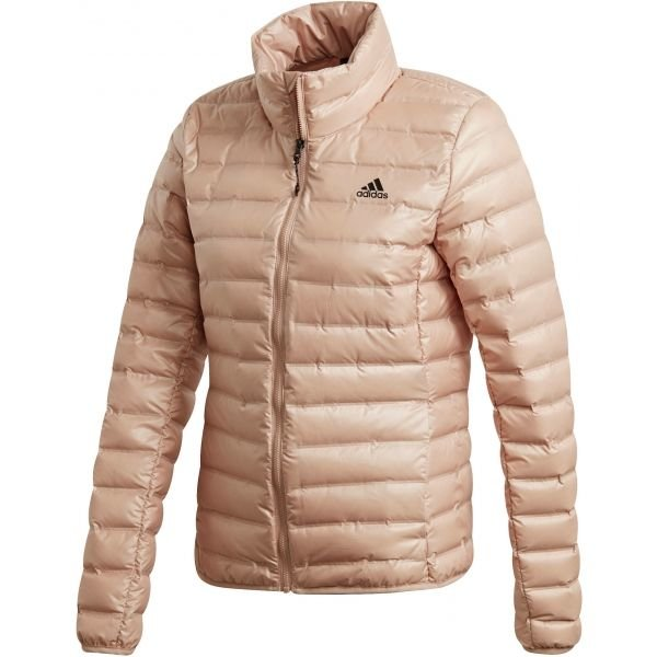 Růžová dámská bunda Adidas - velikost XS