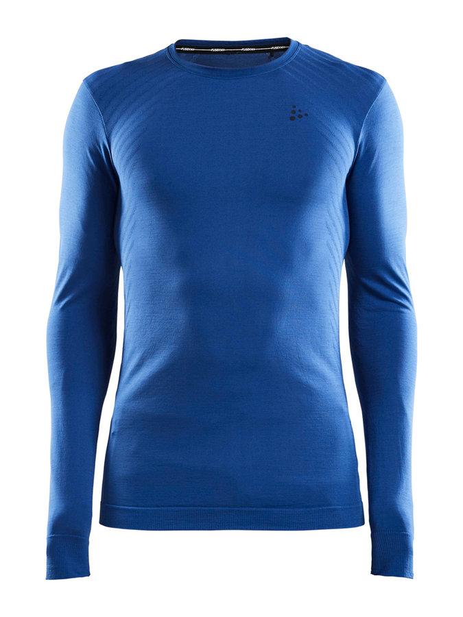 Modré pánské tričko s dlouhým rukávem Craft