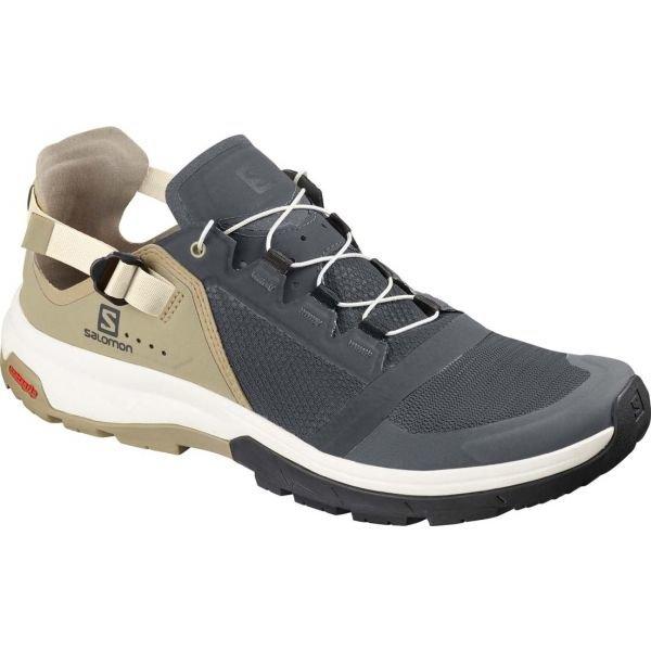 Béžovo-šedé pánské trekové boty Salomon