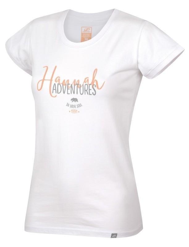 Bílé dámské tričko s krátkým rukávem Hannah - velikost 40