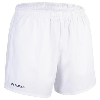 Bílé pánské ragbyové kraťasy R100, Offload