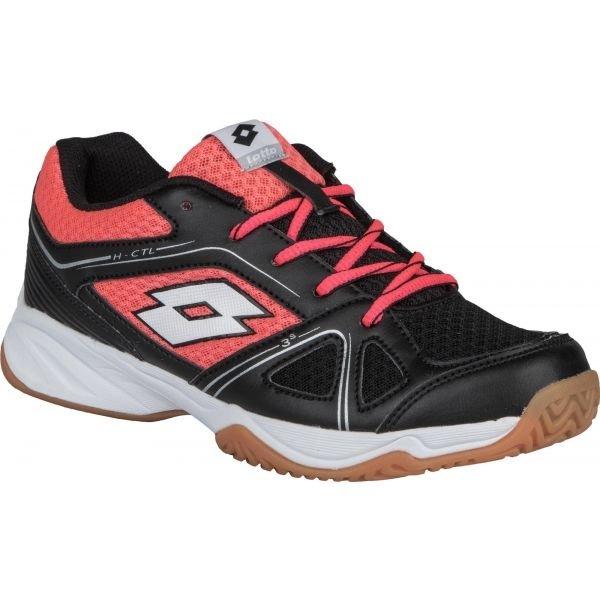 Černo-růžové dívčí boty na volejbal Lotto