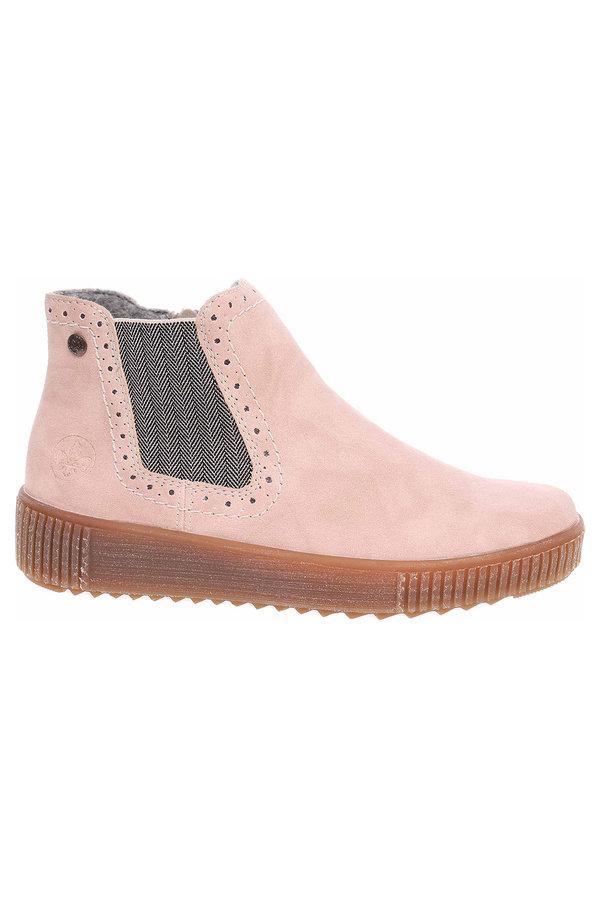 Růžové dámské zimní boty Rieker - velikost 42 EU