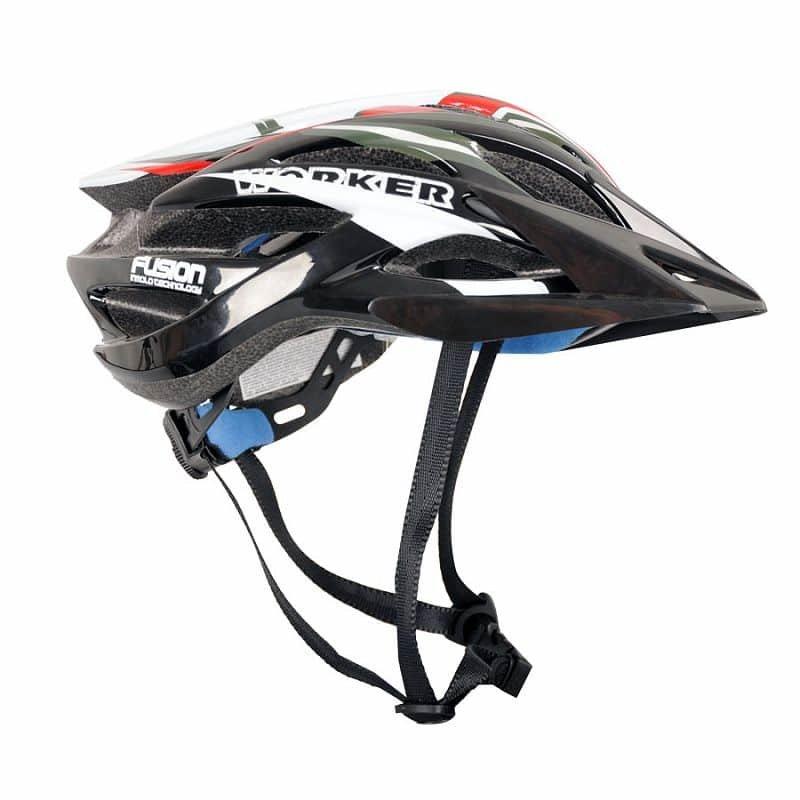 Cyklistická helma - Cyklo přilba WORKER Fusion Barva červená, Velikost S (54-56)