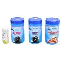 Bazénová chemie - II.Základní set na chlorové ošetření vody (Triplex tablety, pH-, pH+, tester)