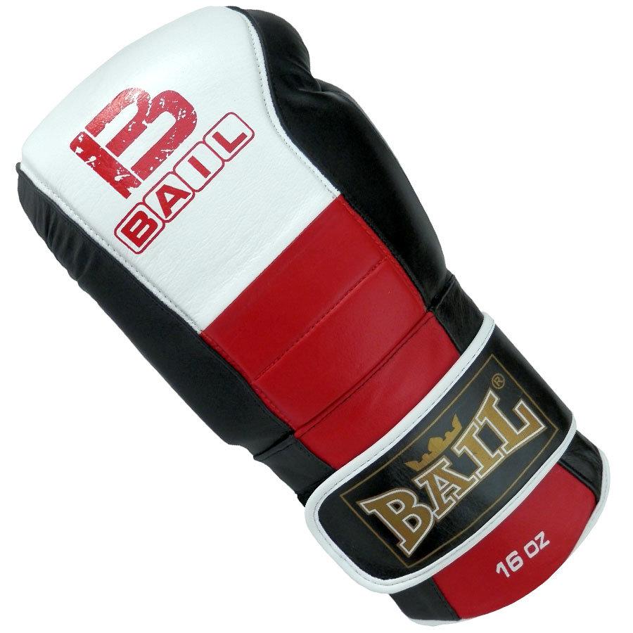 Bílo-červené boxerské rukavice Bail - velikost 16 oz