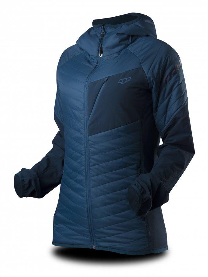 Modrá zimní dámská bunda s kapucí Trimm - velikost XS
