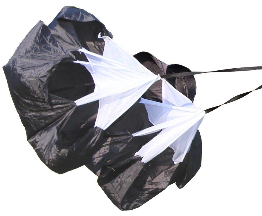 Černý tréninkový brzdící padák Merco - průměr 140 cm