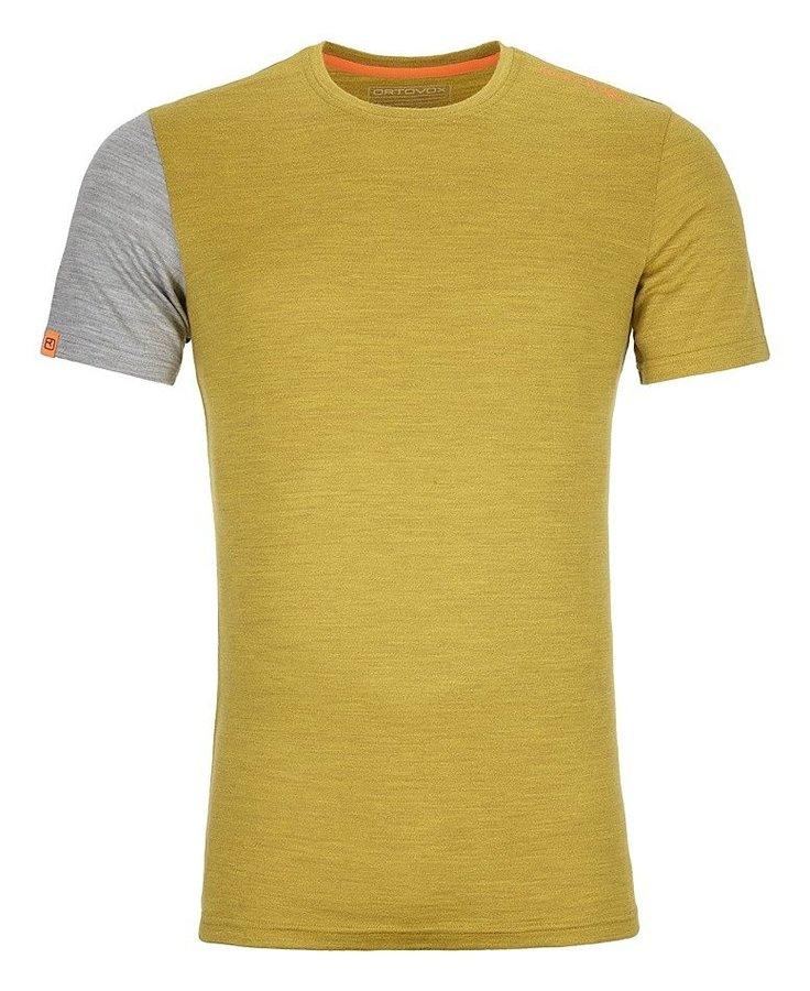Šedo-žluté pánské termo tričko s krátkým rukávem Ortovox