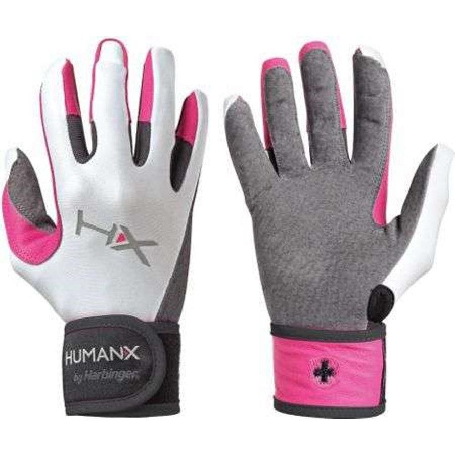 Bílo-růžové dámské fitness rukavice Harbinger