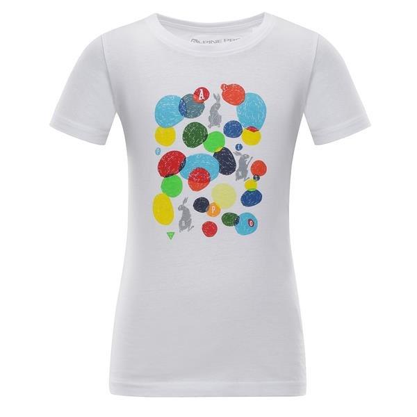 Bílé dětské tričko s krátkým rukávem Alpine Pro - velikost 92-98