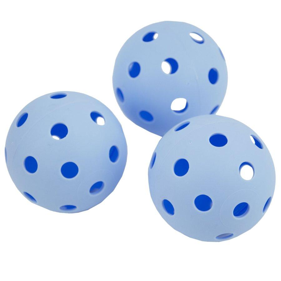 Modrý florbalový míček Turn, Spokey - 3 ks