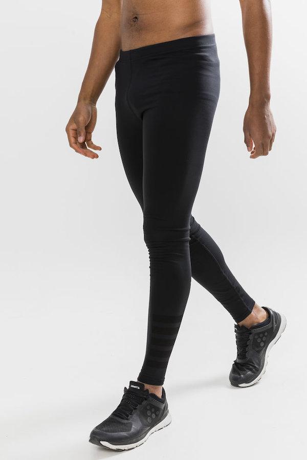 Černé dlouhé zimní pánské cyklistické kalhoty Craft - velikost M