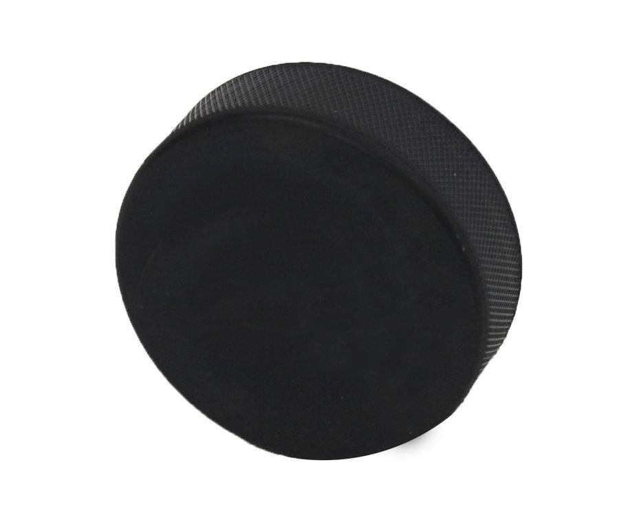 Černý hokejový puk Spartan - průměr 7,5 cm