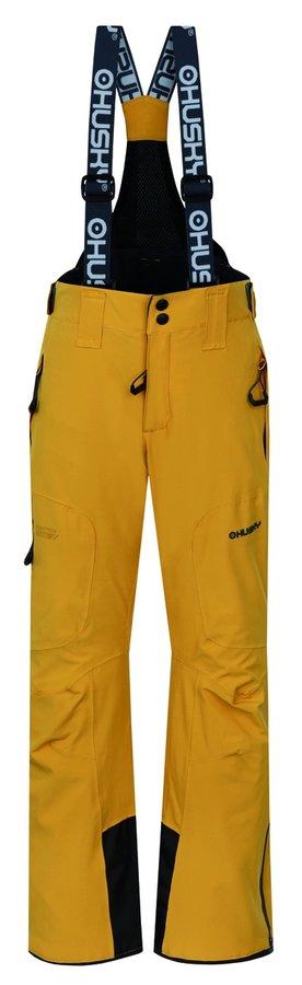 Žluté dětské lyžařské kalhoty Husky - velikost 140-146