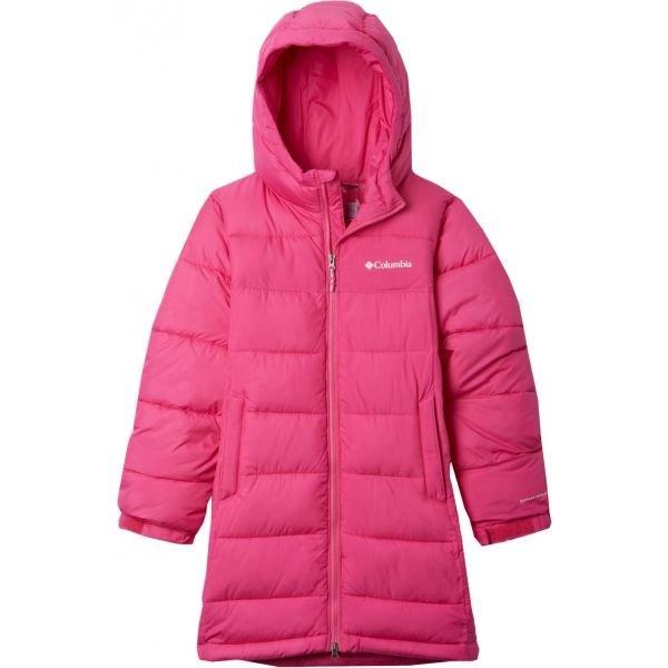 Růžová zimní dívčí bunda Columbia