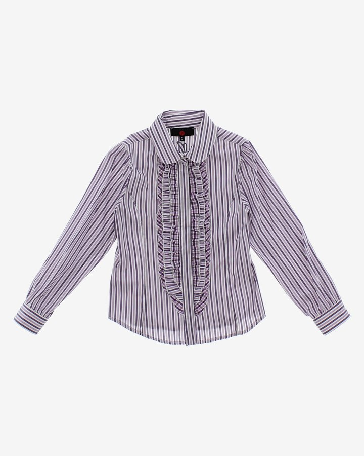 Bílo-fialová dívčí košile s dlouhým rukávem John Richmond - velikost 116