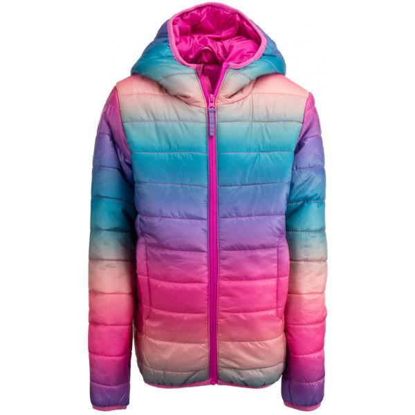Růžová dívčí lyžařská bunda Alpine Pro