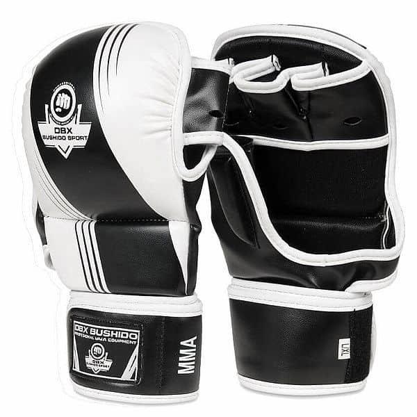 Bílo-černé MMA rukavice Bushido - velikost L-XL