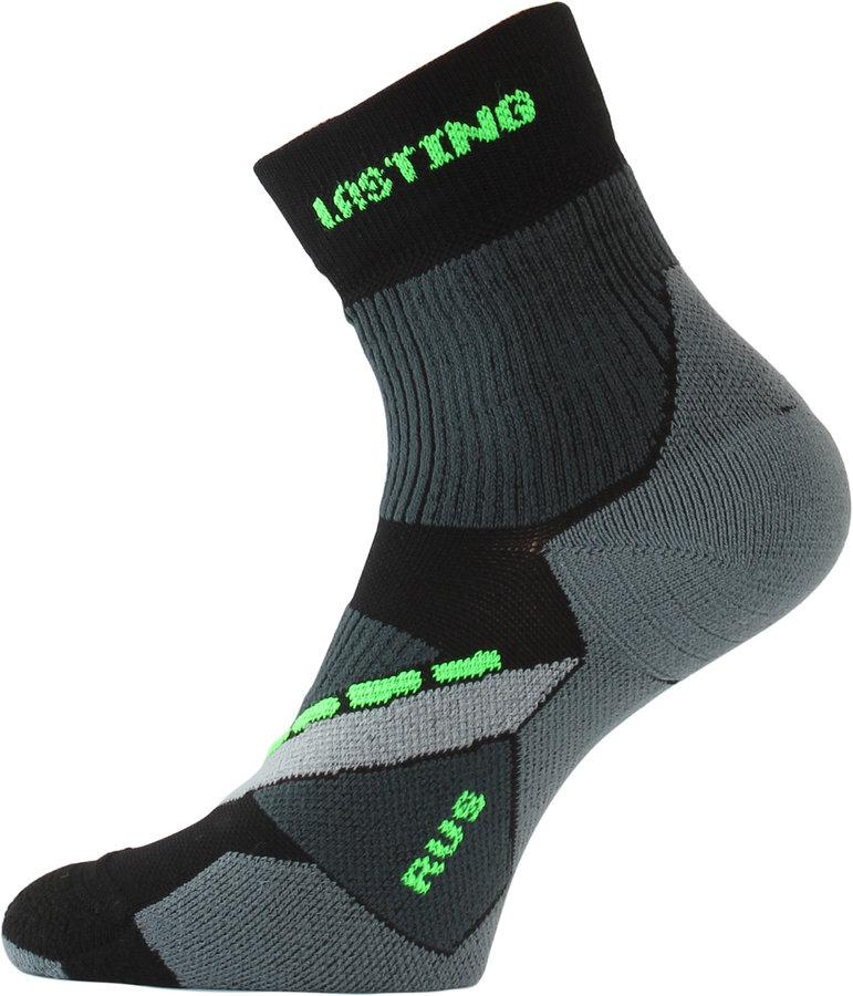 Černé pánské běžecké ponožky Lasting - velikost 34-37 EU