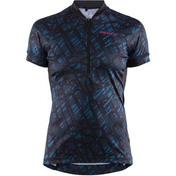 Černo-modrý dámský cyklistický dres Craft