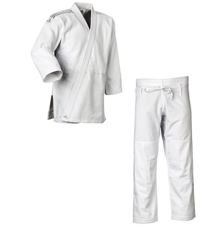 Bílé kimono na judo Adidas