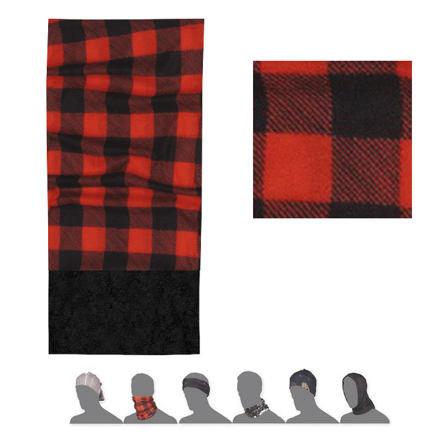 Černo-červený multifunkční šátek Sensor