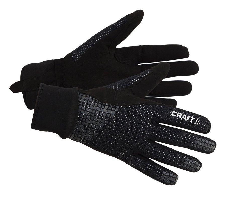 Černé pánské nebo dámské běžecké rukavice Craft