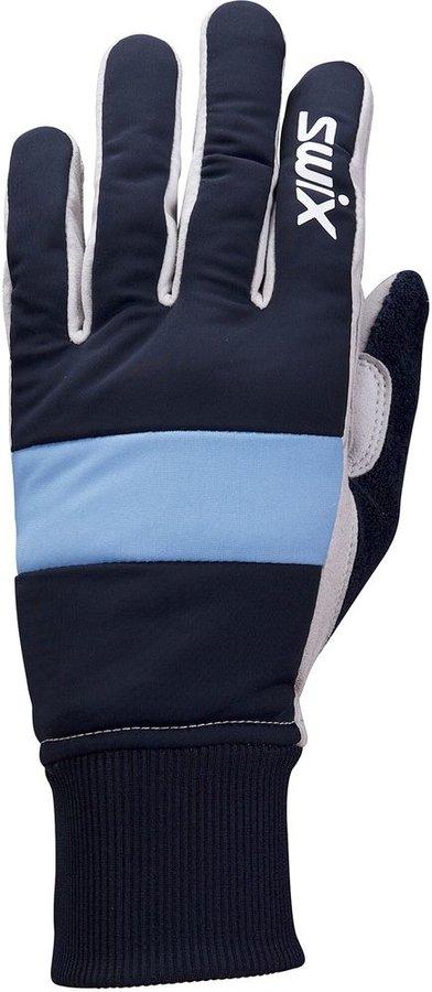 Modré dámské rukavice na běžky Swix