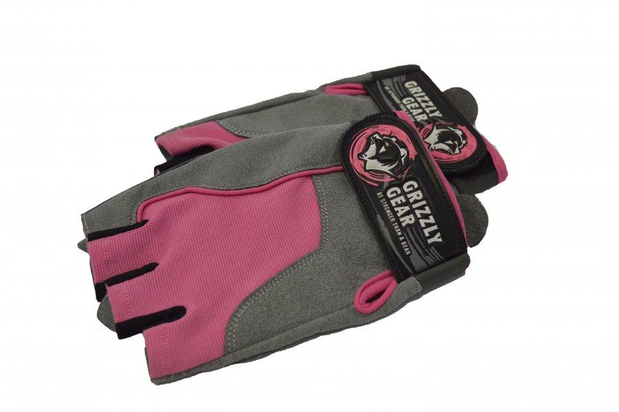 Černo-růžové dámské fitness rukavice