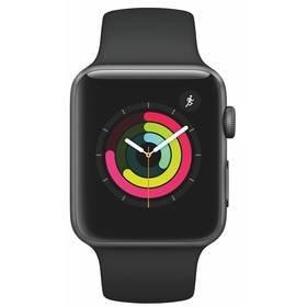 Černé chytré hodinky Watch Series 3 GPS, Apple