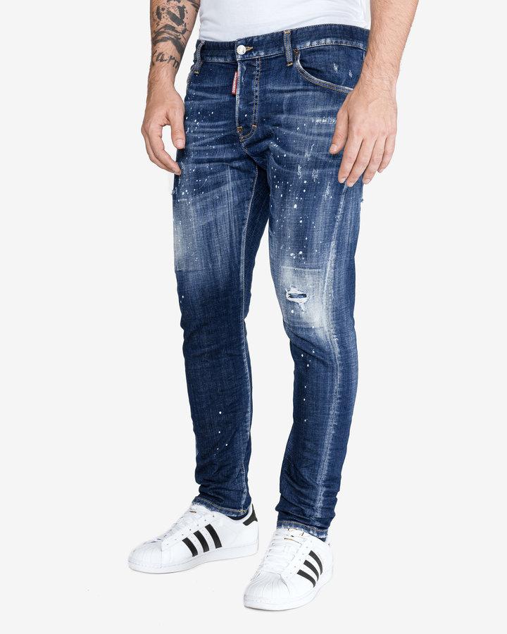 Modré pánské džíny DSQUARED2 - velikost 52