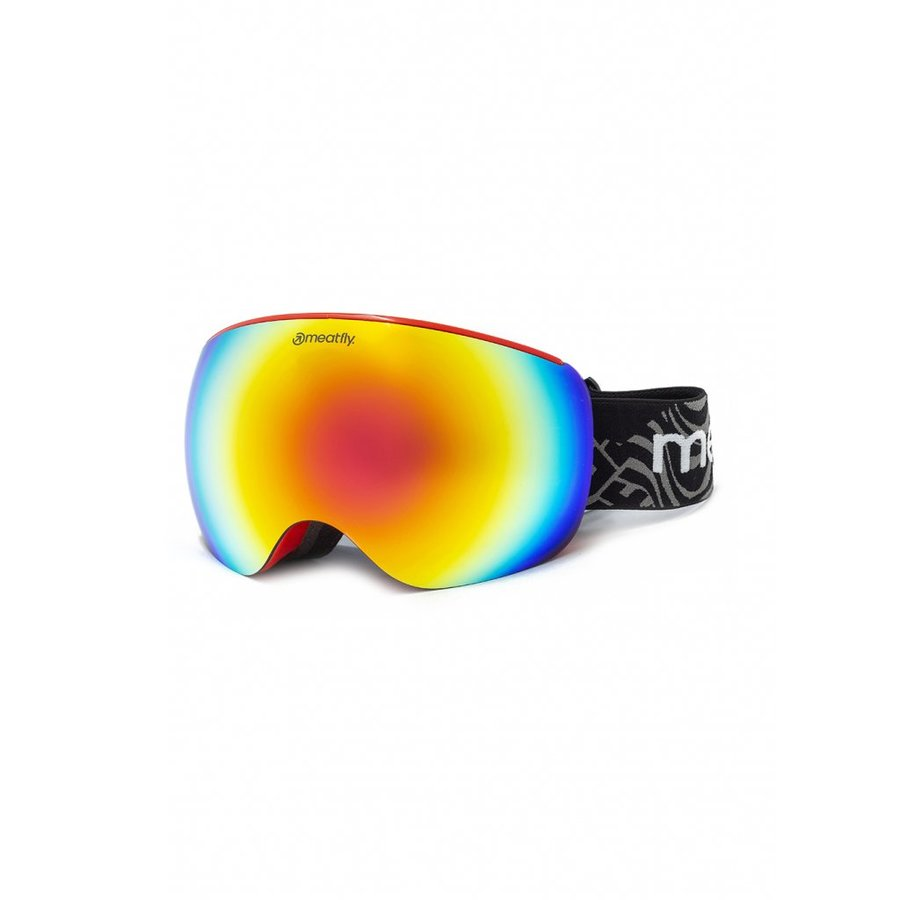 Brýle na snowboard - Meatfly Ekko XL Goggles A - Red Velikost: XL