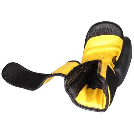 Černo-žluté boxerské rukavice Fighter - velikost 6 oz