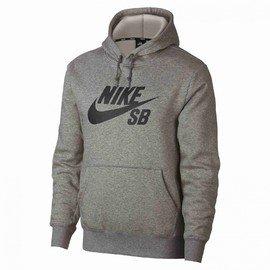Šedá pánská mikina s kapucí Nike