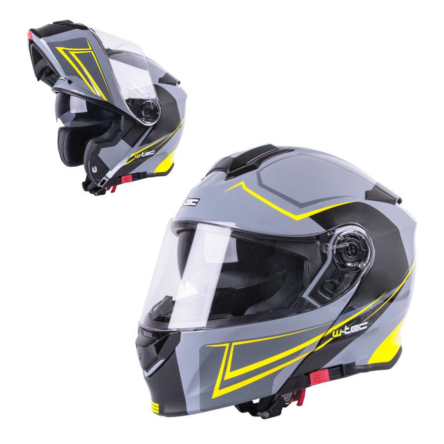 Černo-žlutá unisex helma na motorku V271, W-TEC