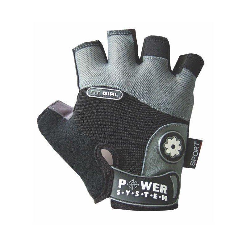 Šedé dámské fitness rukavice Power System - velikost XS