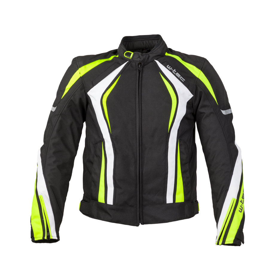 Bílo-černá pánská motorkářská bunda Chagalero, W-TEC