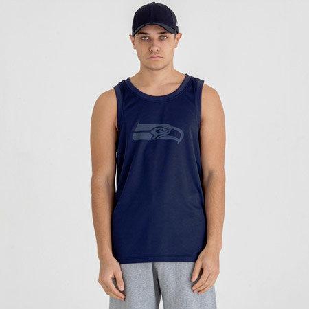 """Modré pánské tričko bez rukávů """"Seattle Seahawks"""", New Era"""