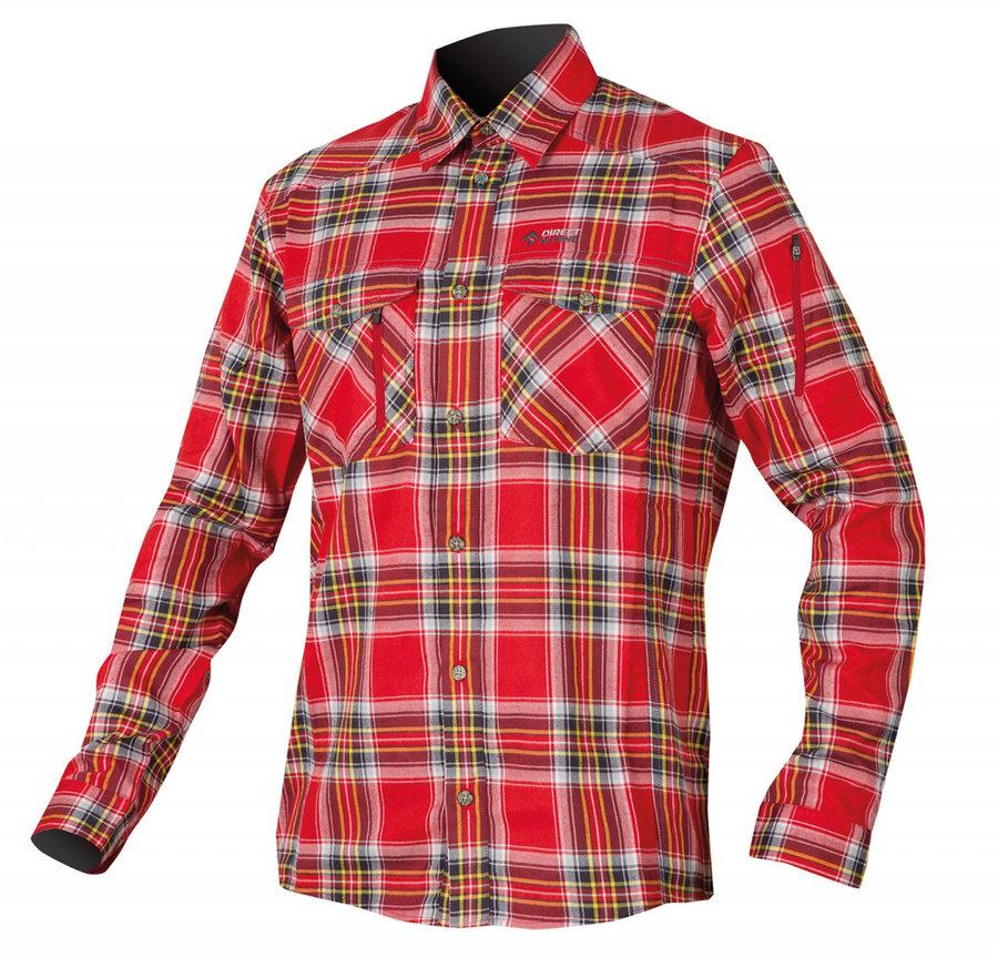 Červená pánská košile s dlouhým rukávem Direct Alpine - velikost XL