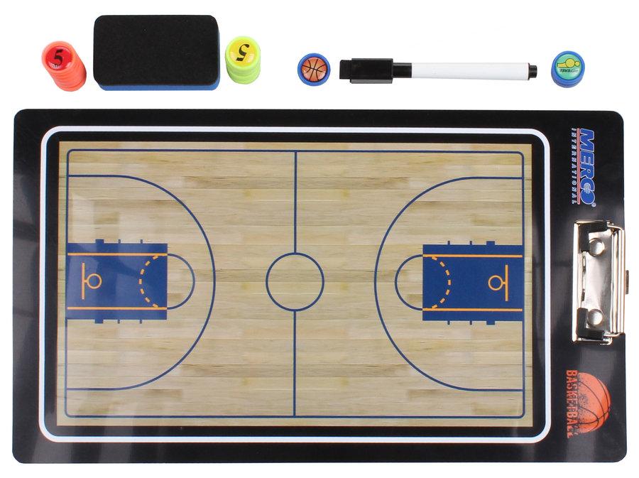 Basketbalová trenérská tabule - Merco Basketbal 65 magnetická trenérská tabule, s klipem