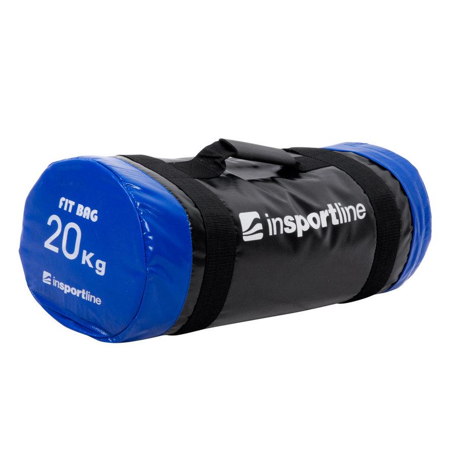 Černo-modrý posilovací vak FitBag, inSPORTline - 20 kg