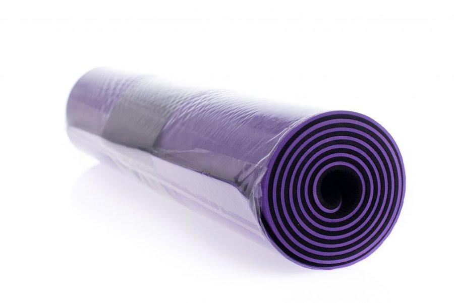 Podložka na jógu - EUPROMED Dvouvrstvá podložka na jógu 183 x 61 x 0,6 cm - FIALOVÁ